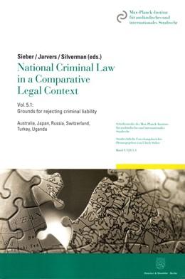 Abbildung von Sieber / Jarvers   National Criminal Law in a Comparative Legal Context   1. Auflage   2016   beck-shop.de