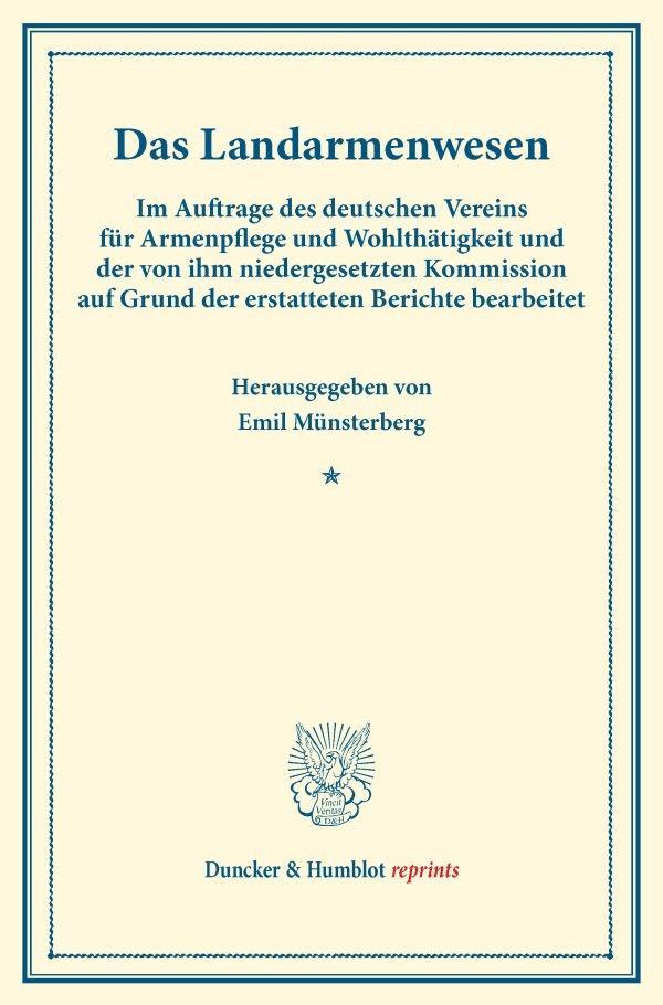 Abbildung von Münsterberg | Das Landarmenwesen. | 2016