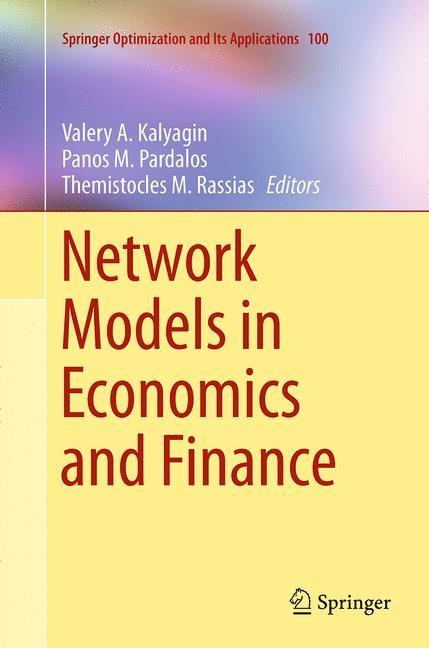 Abbildung von Kalyagin / Pardalos / Rassias | Network Models in Economics and Finance | Softcover reprint of the original 1st ed. 2014 | 2016