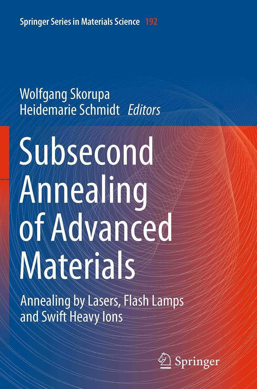 Abbildung von Skorupa / Schmidt | Subsecond Annealing of Advanced Materials | Softcover reprint of the original 1st ed. 2014 | 2016