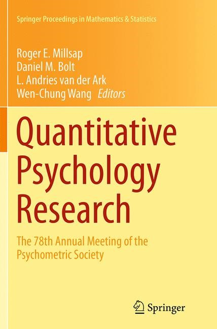 Abbildung von Millsap / Bolt / van der Ark / Wang | Quantitative Psychology Research | Softcover reprint of the original 1st ed. 2015 | 2016