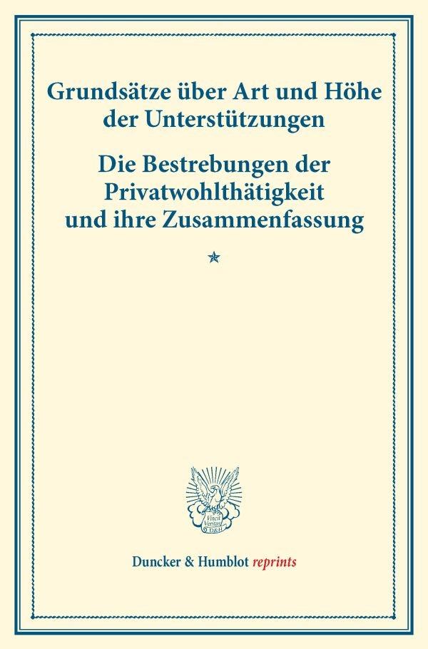 Abbildung von Grundsätze über Art und Höhe der Unterstützungen – Die Bestrebungen der Privatwohlthätigkeit und ihre Zusammenfassung. | 2016