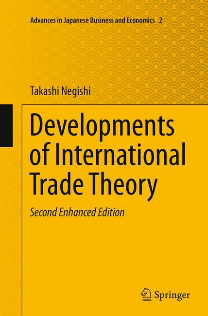 Abbildung von Negishi | Developments of International Trade Theory | Softcover reprint of the original 2nd ed. 2014 | 2016