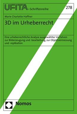 Abbildung von Haffner   3D im Urheberrecht   1. Auflage   2016   beck-shop.de
