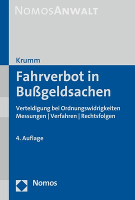 Fahrverbot in Bußgeldsachen | Krumm | 4. Auflage, 2017 | Buch (Cover)