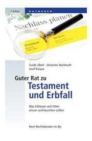 Guter Rat Zu Testament Und Erbfall Ubert Hochmuth Kaspar 7