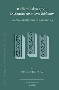 Abbildung von Michalowska | Richard Kilvington's <i>Quaestiones super libros Ethicorum</i> | 2016