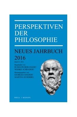 Abbildung von Perspektiven der Philosophie   2016   Neues Jahrbuch. Band 42 – 2016   42