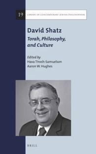 Abbildung von Tirosh-Samuelson / Hughes | David Shatz: Torah, Philosophy, and Culture | 2016