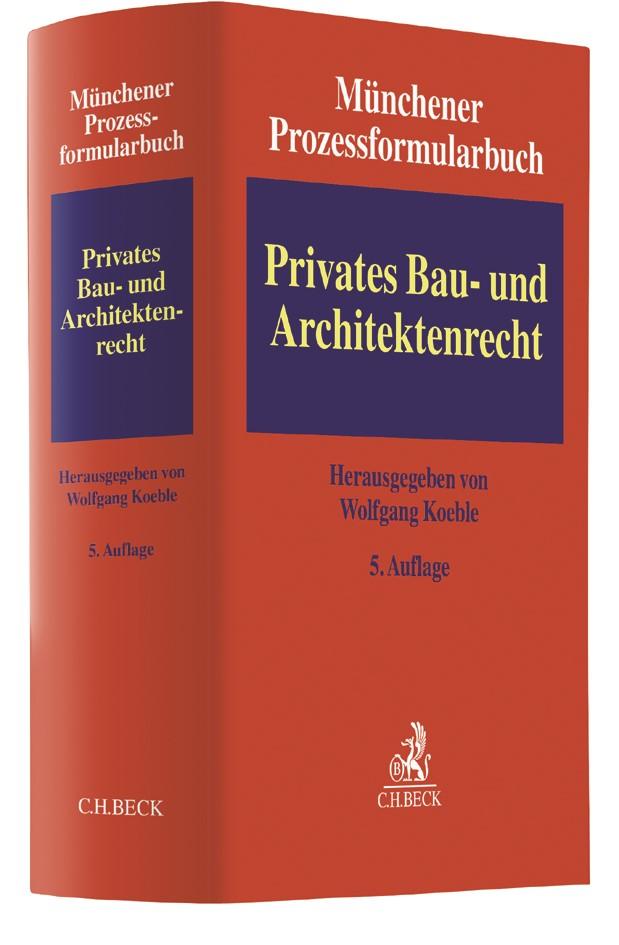 Münchener Prozessformularbuch, Band 2: Privates Bau- und Architektenrecht | Buch (Cover)