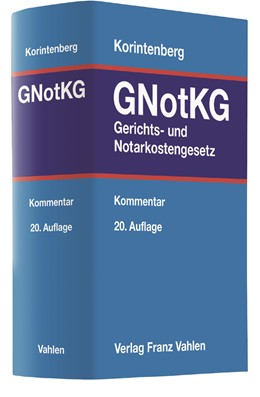 Abbildung von Korintenberg | Gerichts- und Notarkostengesetz: GNotKG | 20. Auflage | 2017