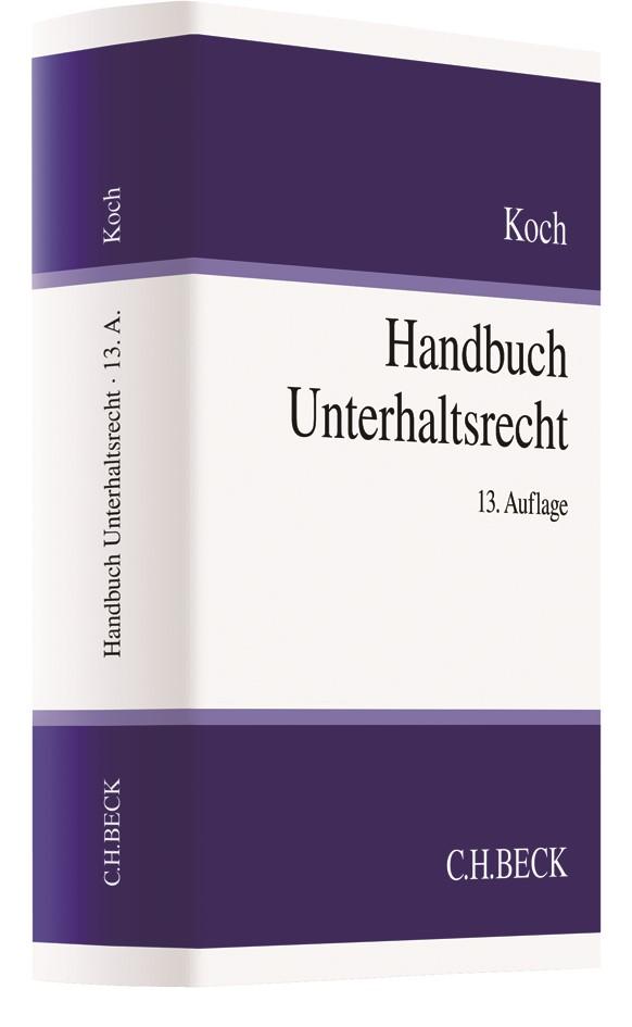 Handbuch Unterhaltsrecht   Koch   13. Auflage, 2017   Buch (Cover)