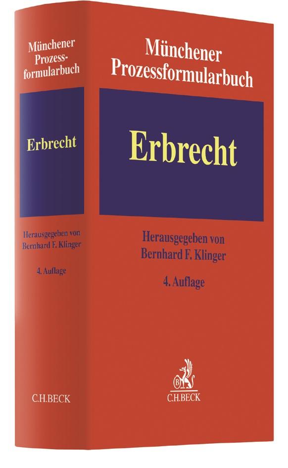 Münchener Prozessformularbuch, Band 4: Erbrecht | 4. Auflage, 2017 | Buch (Cover)