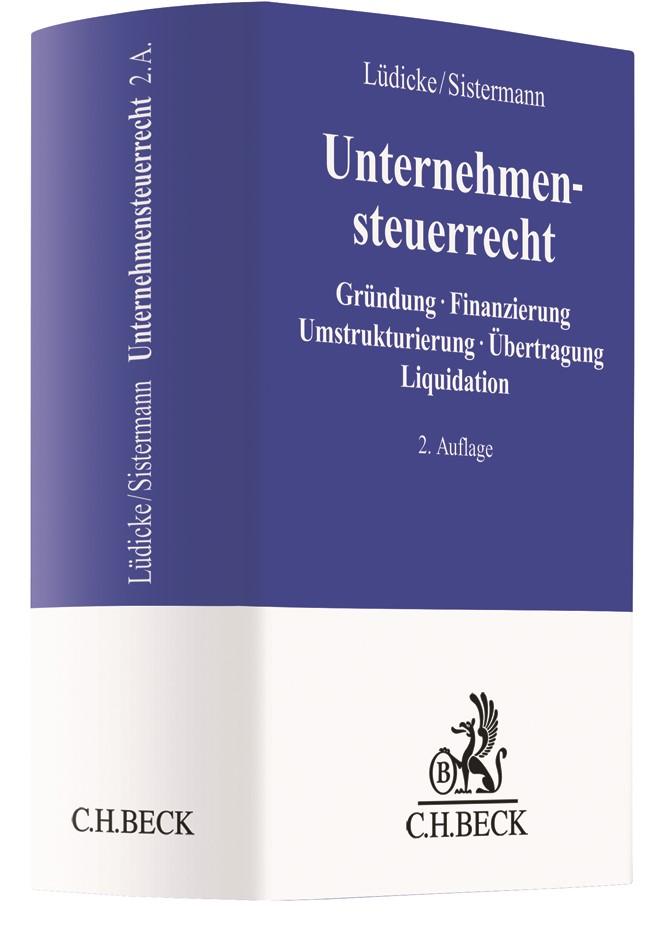 Unternehmensteuerrecht | Lüdicke / Sistermann | 2. Auflage, 2018 | Buch (Cover)