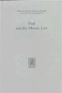 Paul and the Mosaic Law   Dunn, 1996   Buch (Cover)