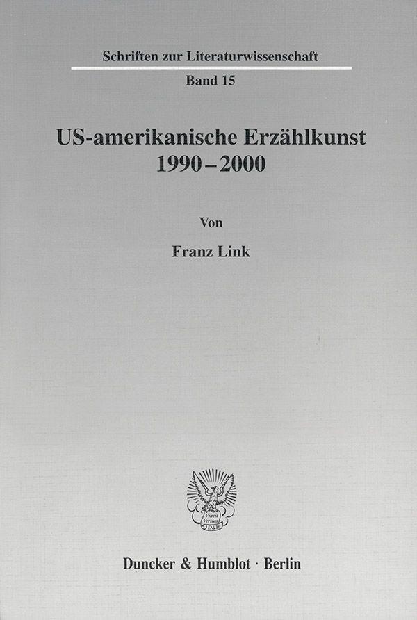 US-amerikanische Erzählkunst 1990-2000. | Link, 2001 | Buch (Cover)