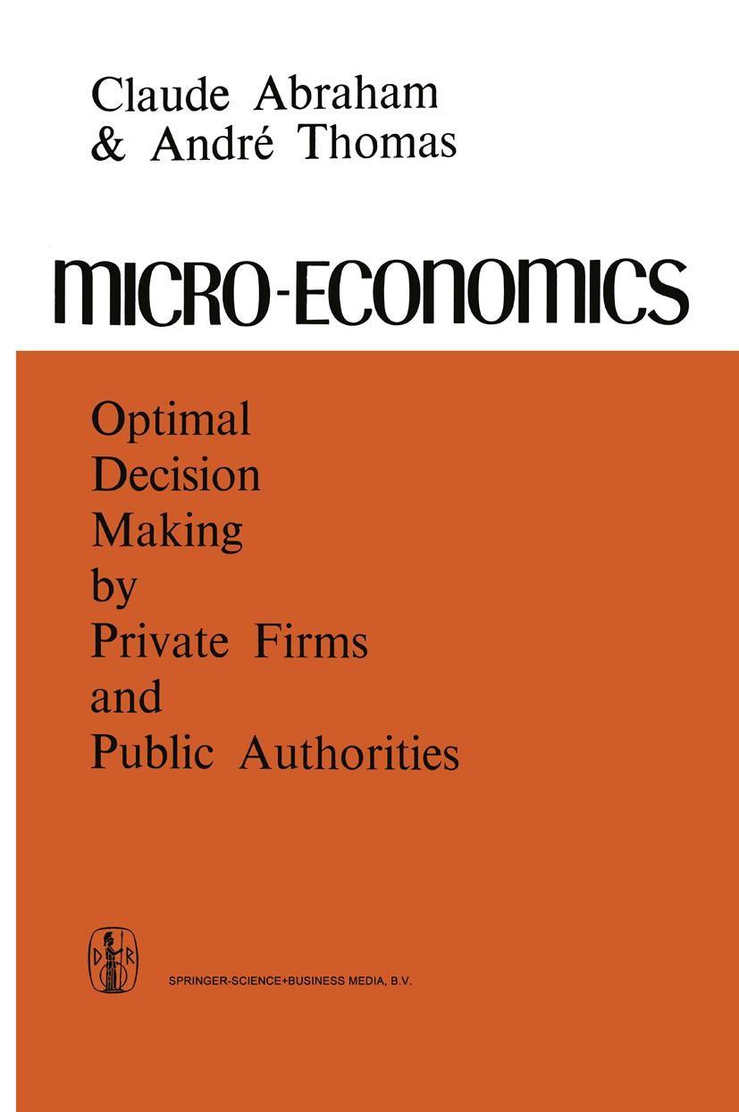 Micro-Economics | Abraham / Thomas, 1972 | Buch (Cover)