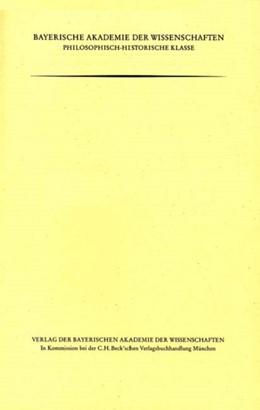 Abbildung von Felder, Egon | Die Personennamen auf den merowingischen Münzen der Bibliothèque nationale de France | 1. Auflage | 2003 | Heft 122 | beck-shop.de