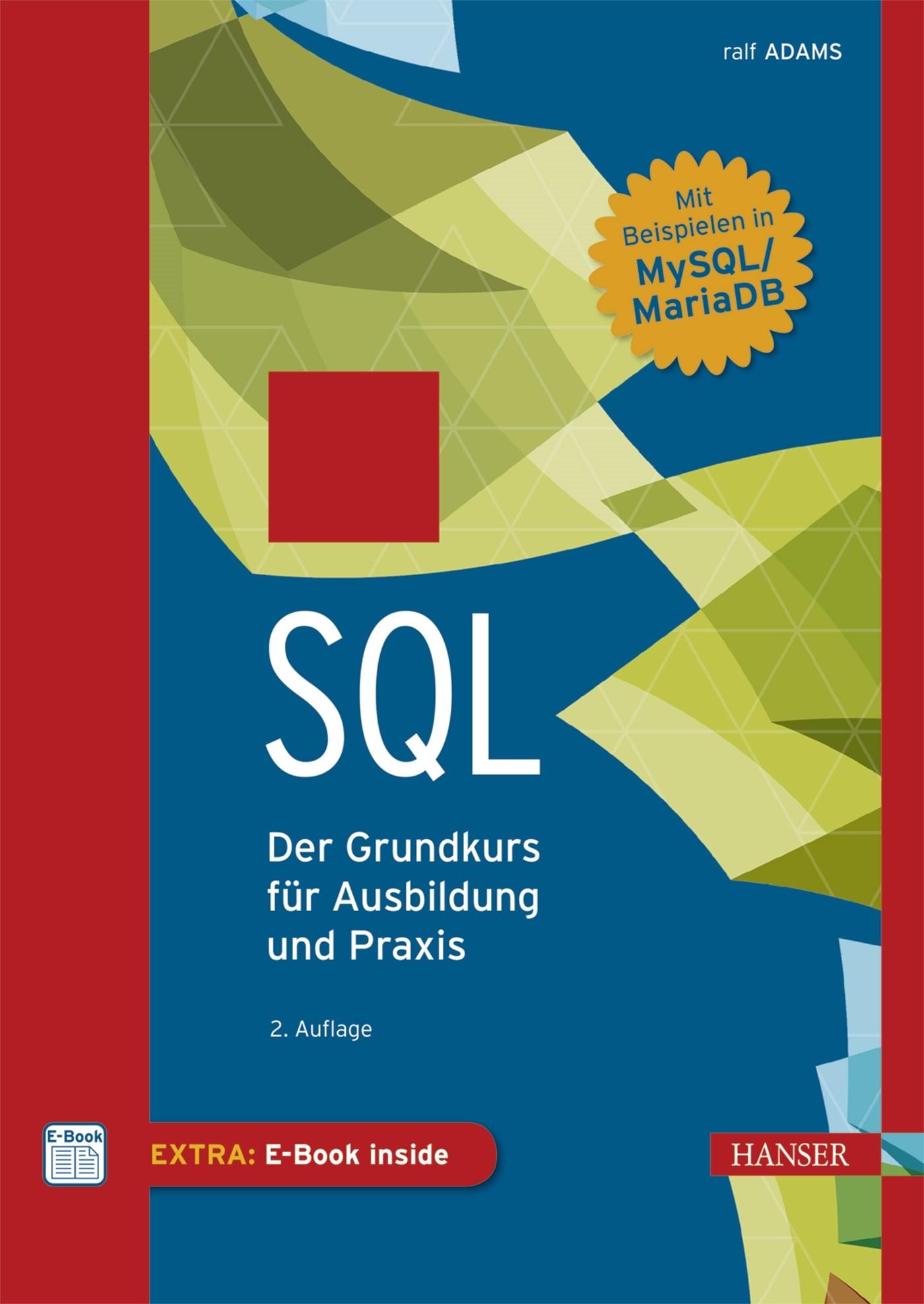 SQL | Adams | 2., aktualisierte Auflage, 2016 (Cover)