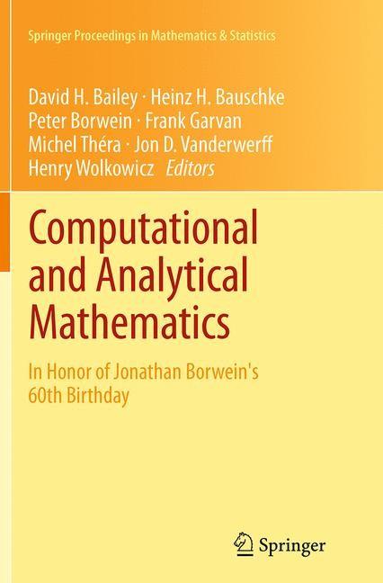 Abbildung von Bailey / Bauschke / Borwein / Garvan / Théra / Vanderwerff / Wolkowicz | Computational and Analytical Mathematics | Softcover reprint of the original 1st ed. 2013 | 2016