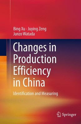 Abbildung von Xu / Zeng / Watada | Changes in Production Efficiency in China | Softcover reprint of the original 1st ed. 2014 | 2016 | Identification and Measuring