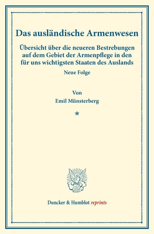 Abbildung von Münsterberg | Das ausländische Armenwesen. | 2016