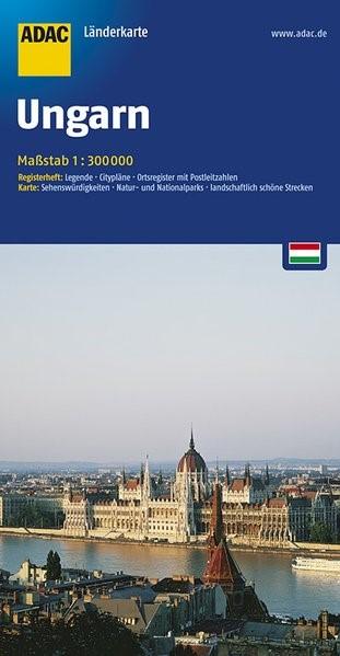 ADAC LänderKarte Ungarn 1 : 300 000   5. Auflage, Laufzeit bis 2020, 2016 (Cover)