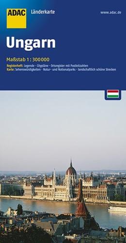 Abbildung von ADAC LänderKarte Ungarn 1 : 300 000   5. Auflage, Laufzeit bis 2020   2016   Register: Legende, Citypläne, ...