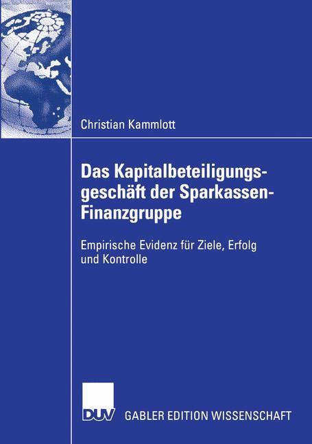 Das Kapitalbeteiligungsgeschäft der Sparkassen-Finanzgruppe | Kammlott, 2004 | Buch (Cover)