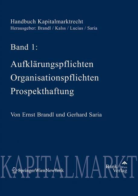 Handbuch Kapitalmarktrecht | Brandl / Saria | 1. Auflage 2005, 2005 | Buch (Cover)