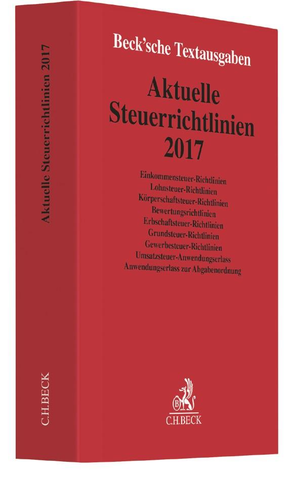 Aktuelle Steuerrichtlinien 2017, 2017 | Buch (Cover)
