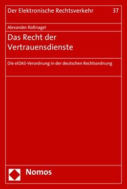 Abbildung von Roßnagel | Das Recht der Vertrauensdienste | 1. Auflage | 2016 | beck-shop.de