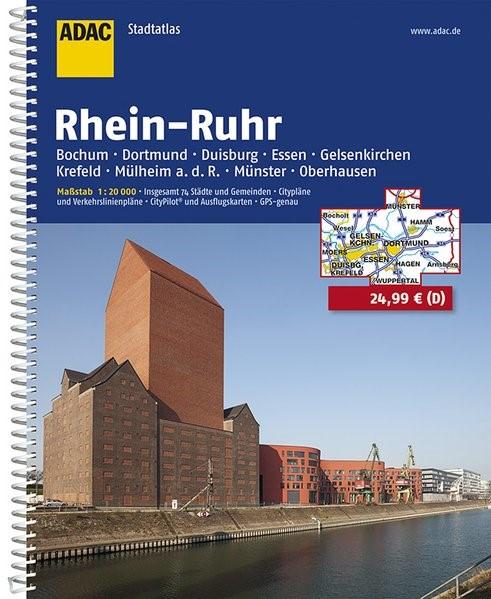 ADAC StadtAtlas Rhein-Ruhr 1 : 20 000 | 11. Auflage, Laufzeit bis 2020, 2018 | Buch (Cover)