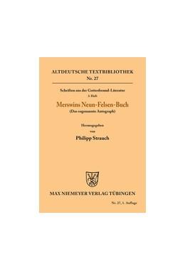 Abbildung von Merswin / Strauch | Schriften aus der Gottesfreund-Literatur | 1. Auflage | 1929 | 3. Heft: Merswins Neun-Felsen-...