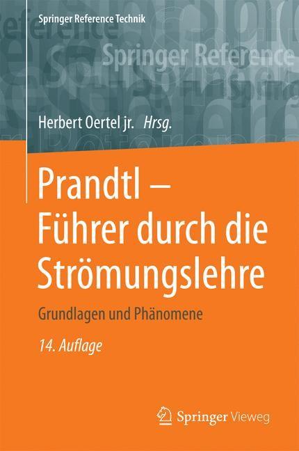 Prandtl - Führer durch die Strömungslehre | Oertel jr. | 14. Aufl. 2017, 2017 | Buch (Cover)