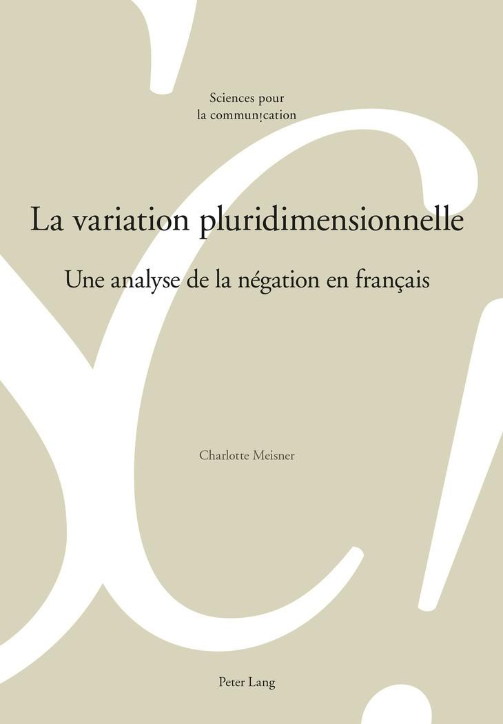 Abbildung von Meisner | La variation pluridimensionnelle | 2016