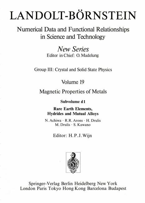 Abbildung von Achiwa / Arons / Drulis | Rare Earth Elements, Hydrides and Mutual Alloys | 1991