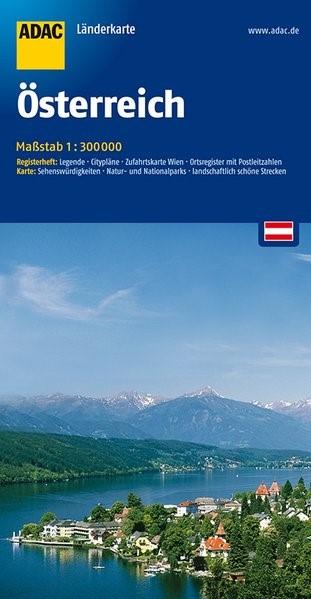 ADAC LänderKarte Österreich 1 : 300 000 | 7. Auflage, Laufzeit bis 2020, 2016 (Cover)