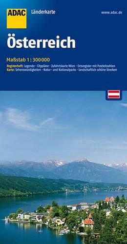 Abbildung von ADAC LänderKarte Österreich 1 : 300 000 | 7. Auflage, Laufzeit bis 2020 | 2016 | Register: Legende, Citypläne, ...