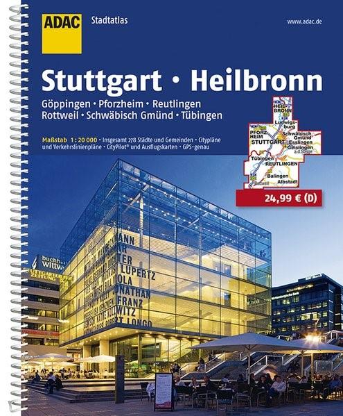 Abbildung von ADAC StadtAtlas Stuttgart, Heilbronn 1:20 000 | 11. Auflage, Laufzeit bis 2020 | 2016