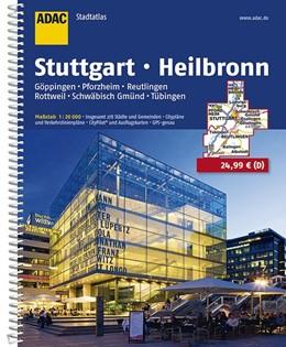 Abbildung von ADAC StadtAtlas Stuttgart, Heilbronn 1:20 000 | 11. Auflage, Laufzeit bis 2020 | 2016 | Schwäbisch Gmünd, Tübingen