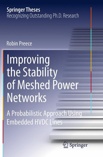 Abbildung von Preece | Improving the Stability of Meshed Power Networks | Softcover reprint of the original 1st ed. 2013 | 2016