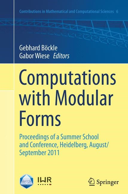 Abbildung von Böckle / Wiese | Computations with Modular Forms | Softcover reprint of the original 1st ed. 2014 | 2016