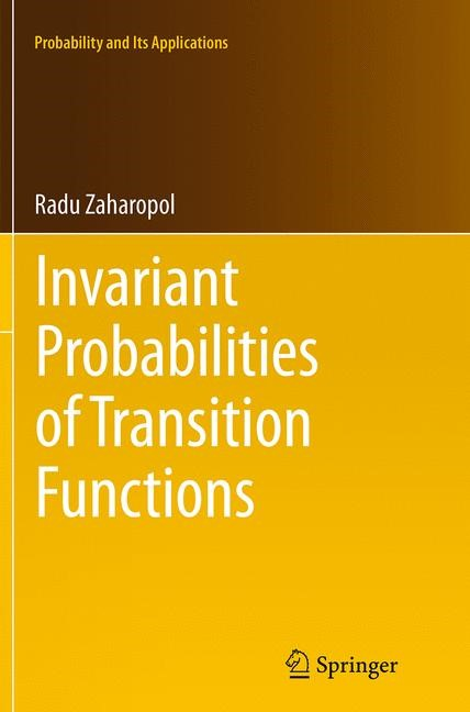 Abbildung von Zaharopol | Invariant Probabilities of Transition Functions | Softcover reprint of the original 1st ed. 2014 | 2016
