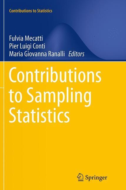 Abbildung von Mecatti / Conti / Ranalli | Contributions to Sampling Statistics | Softcover reprint of the original 1st ed. 2014 | 2016