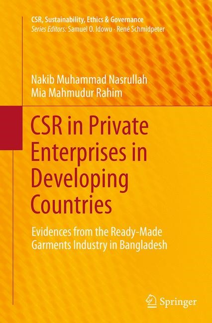 Abbildung von Nasrullah / Rahim   CSR in Private Enterprises in Developing Countries   Softcover reprint of the original 1st ed. 2014   2016