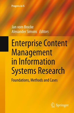 Abbildung von vom Brocke / Simons | Enterprise Content Management in Information Systems Research | 1. Auflage | 2016 | beck-shop.de