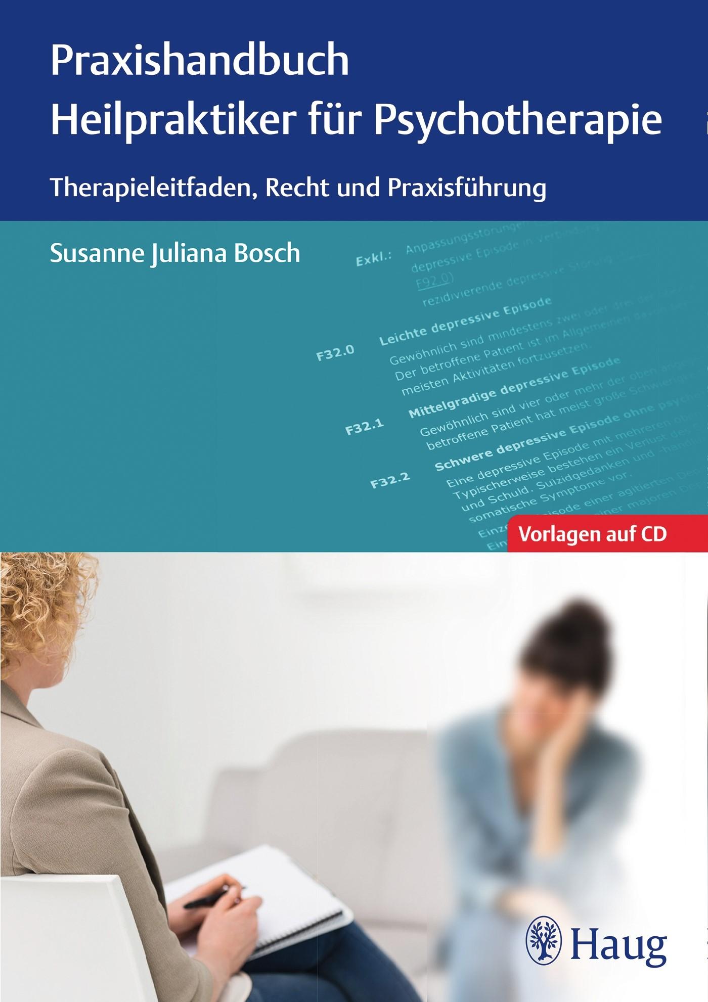 Praxishandbuch Heilpraktiker für Psychotherapie | Bosch, 2016 (Cover)