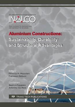 Abbildung von Mazzolani / Bellucci / Faggiano / Squillace | Aluminium Constructions: Sustainability, Durability and Structural Advantages | 2016 | Volume 710