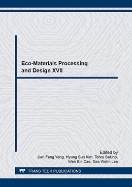 Abbildung von Yang / Kim / Sekino / Cao / Lee | Eco-Materials Processing and Design XVII | 2016 | Volume 868